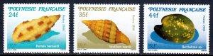 French Polynesia - Scott #492-494 - MNH - SCV $3.00