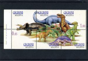 Gagauzia Moldova Dinosaurs s/s Perforated mnh.vf