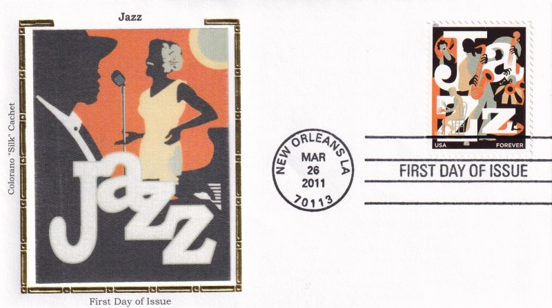 2011, Jazz, Colorano Silk, FDC (E11873)
