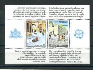 San Marino   Europa 1989 sheet VF NH