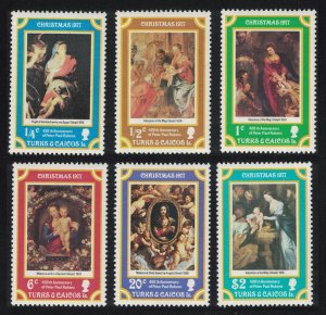Turks and Caicos Paintings 400th Birth Anniversary of Rubens Christmas 6v