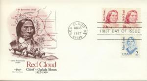 1987 Chief Red Cloud Oglala Sioux (Scott 2175) Artmaster FDC