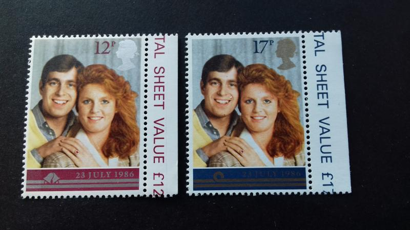 Great Britain 1986 Wedding of Prince Andrew and Sarah Ferguson Mint