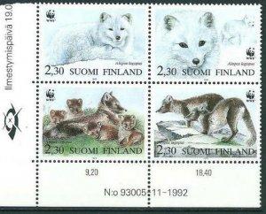 Finland 1993 #907 MNH. Nature protection, animals, block