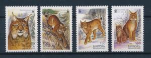 [54019] Belarus 2000 Wild animals Mammals WWF Lynx MNH