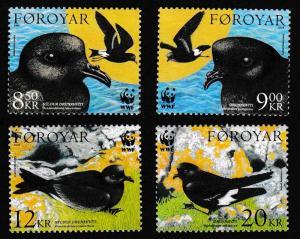 Faroe Is. Birds WWF Petrels 4v SG#479-482 MI#530-533 SC#458-461 SALE BELOW FACE