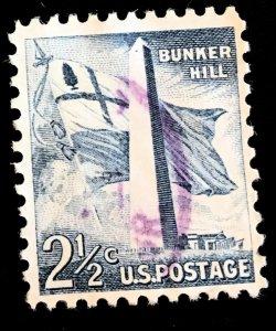 1034 Bunker Hill, Circulated Single, Vic's Stamp Stash