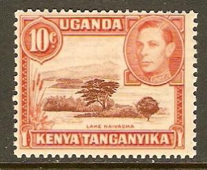Kenya,Uganda & Tanzania #69 NH 10c Lake Def.