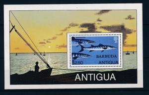 [32755] Barbuda 1979 Marine Life Barracuda MNH  Sheet