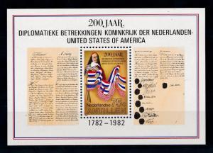 [NA715] Antilles Antillen 1982 Peter Stuyvesant USA Flags Souvenir Sheet MNH