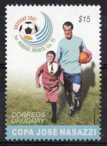 URUGUAY Soccer Football  WC 1930 captain Nasazzi entering field Sc#2188 MNH