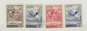 Iceland 1955/57 Sports x 4 MLH JK4288