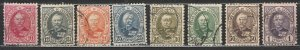 Luxembourg - 1891/1893 Grand Duke Adolphe set to 1fr Sc# 60/67 (7093)