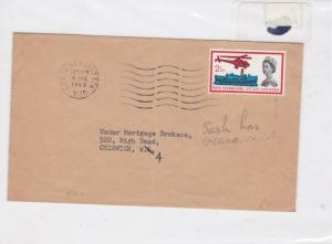G.B 1963  stamp variety on cover ref 8605