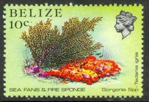 BELIZE 1984 10c SEA FANS & FIRE SPONGE Marine Life Issue Sc 705 MNH