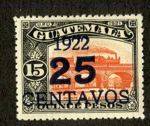 GUATEMALA 201b MH SCV $5.00 BIN $2.25