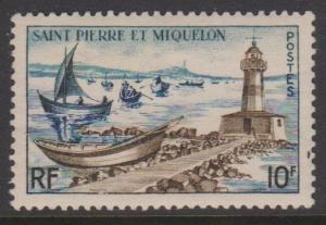 St Pierre and Miquelon Sc#355 MVLH