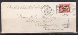 Newfoundland #C3h VF Used On Cover To Sackville **With Certificate**
