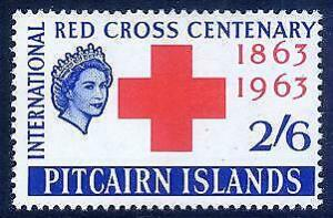 HERRICKSTAMP PITCAIRN ISLANDS Sc.# 36-37 Red Cross