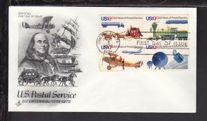 US 1575a Postal Service 1975 Artcraft U/A FDC