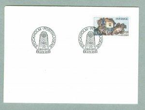 Sweden. FDC 1971. Mail Coach, Horses. Engraver: Cz. Slania