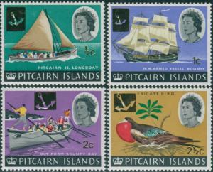 Pitcairn Islands 1967 SG69-72 Boats Bird MNH