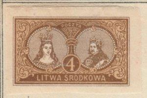 Central Lithuania Mittellitauen Lituanie Centrale Lituania 1921 4m MH* A8P11F114