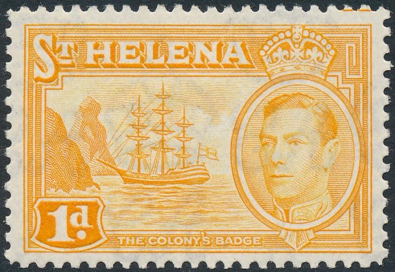 St Helena 1940 1d Yellow-Orange SG132a MH 1