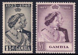 Gambia - Scott #146-147 - MNH - Light gum toning - SCV $20.25