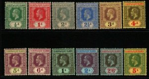 GILBERT & ELLICE IS. SG12/23 1912-24 DEFINITIVE SET TO 5/= MTD MINT