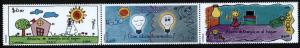 MEXICO 2665, Energy Conservation. Strip of three. MNH.