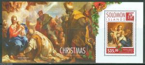 SOLOMON ISLANDS 2014  CHRISTMAS PAINTINGS SOUVENIR SHEET MINT NH
