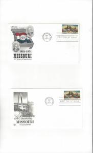 US Missouri Statehood # 1426 FDC Artcraft & Official Cachet