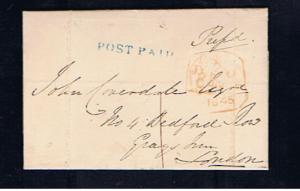 1845 UNIFORM PENNY POST NEWTOWN MOUNT KENNEDY