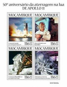 Z08 IMPERF MOZ190420a MOZAMBIQUE 2019 Apollo 11 MNH ** Postfrisch