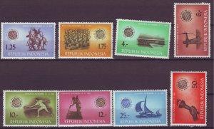J25037 JLstamps 1963 indonesia set mnh #608-15 designs