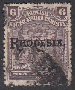 Rhodesia 89 Used CV $12.00
