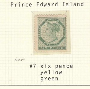 PRINCE EDWARD ISLAND # 7 MH CAT VAL $100 FREE SHIPPING
