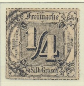 Thurn and Taxis Stamp Scott #27, Mint Hinged, Thin Spot - Free U.S. Shipping,...