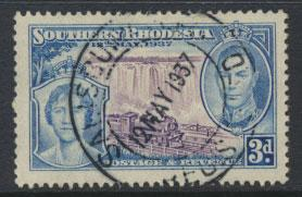 Southern Rhodesia SG 38 SC# 40 Used with 1st day cancel see scan & details