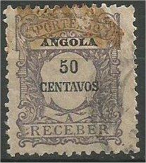 ANGOLA, 1921, used 50c POSTAGE DUE Scott J30