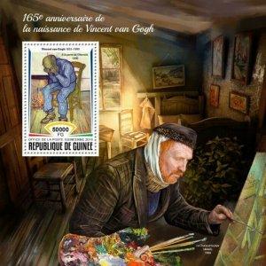 HERRICKSTAMP NEW ISSUES GUINEA Vincent Van Gogh S/S