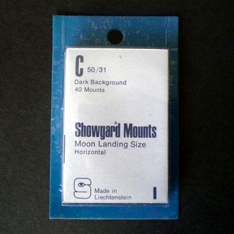 Showgard Stamp Mounts Size C 50 / 31 BLACK Background Pack of 40