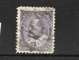 CANADA 1903-08  50c KEVII    FU  Sc 95