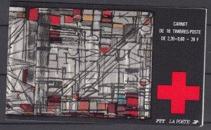 Z4011, 1986 france complete bklt mnh #b583a stained glass