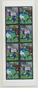 Faroe Islands Sc 446a 2004 Soccer stamp booklet pane in booklet used