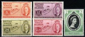 Virgin Islands #98-101, 114  F-VF Unused CV $6.55 (X989)