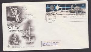 1433 - 1434 Space Achievements ArtCraft FDC with address label