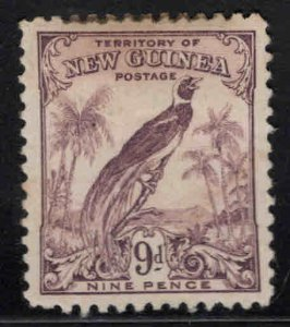 New Guinea Scott 40 MH* stamp stain at top, small thin