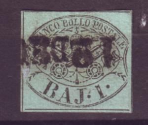 J21195 Jlstamps 1852 roman states used #2 papal arms